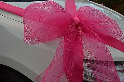 exclusive large giant very big gift bow satin ribbon  birthday present wrap pink