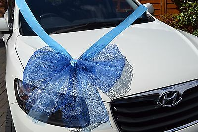 exclusive large giant gift bow satin ribbon  birthday  blue red pink huge bow