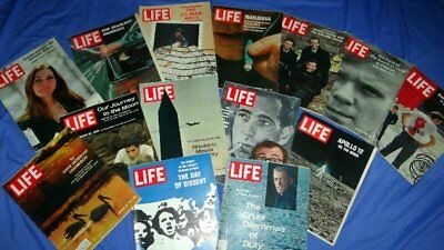 Vintage Life Magazine Lot of 14 Issues 1969