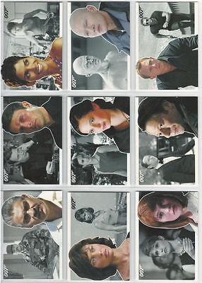 James Bond 007 - Heroes & Villains - Complete Trading Card Set (81) - 2010 - NM