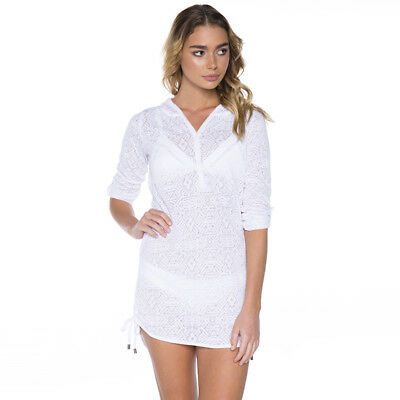 Rip Curl Chicama Long Sleeve Beach Cover in White
