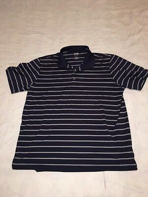 Men's Adidas Golf Polo Shirt Size XL PureMotion Navy Blue