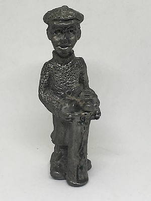 "Vintage  Golfer Small Cast Iron Mini Collectible Figurine 3.5"" Tall Golfing PGA"