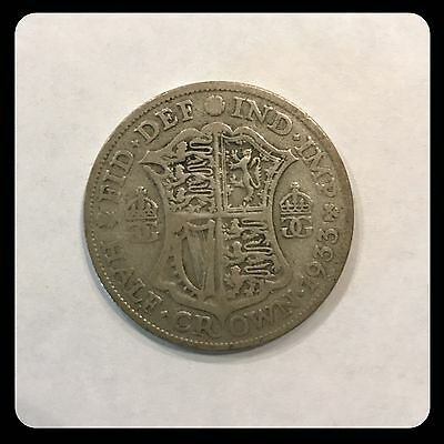 1933 GREAT BRITAIN Silver HALF CROWN Coin