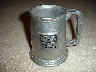 Vintage Original Ford Tractors Equipment Metal Mug Stein