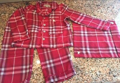 AUTHENTIC BURBERRY TODDLER girl boy  Sleeper  PAJAMA SET 3y