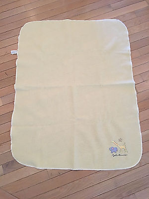 CARTER'S John Lennon REAL LOVE Baby Yellow FLEECE BLANKET Zoo Animals