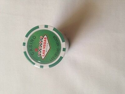 One Roll of Camel Green Las Vegas Casino/ Poker Chips New - Unopened