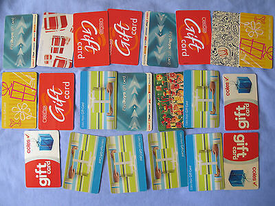Australia Coles Myer Flybuys Gift Cards Lot Collection Bulk
