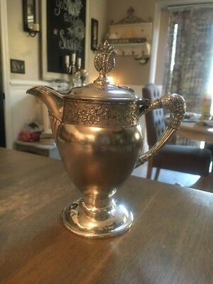 1890 Antique Barbour Bros Co. Quadruple Silver Creamer In Good Condition