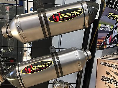 Akrapovic Dual Slip-on Exhaust for GSXR-1000 2008 Carbon Tip