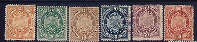 Bolivia Classic Stamps, Sc# 40;42-6 MH/Used Cat.$72