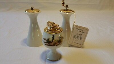 Lenox Giftware Pepper mill, Salt Shaker & Pheasant lighter