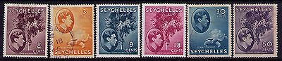 Seychelles Stamps KGVI Sc # 125/14 Selection,MH/Used Cat.$19.50