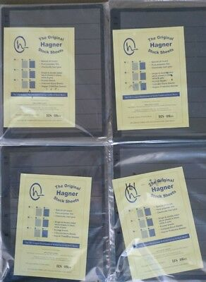 4 x Original Hagner Stock Sheets Packets (Each 10 x 8 Strip)