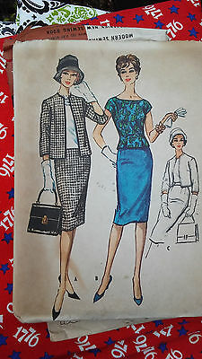 Vintage 1959 McCall's Printed Pattern 5136 Size 18 Suit Jacket Skirt Top