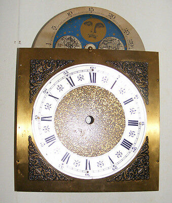 Vintage Grandfather Clock Face Dial Blue Star Moon Face