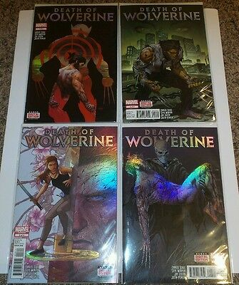 Death of wolverine set 1-4.  Chrome covers.  First print NM
