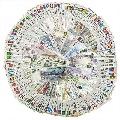 200 PCS UNC Different Mix World Banknotes Genuine Currency Notes UNC