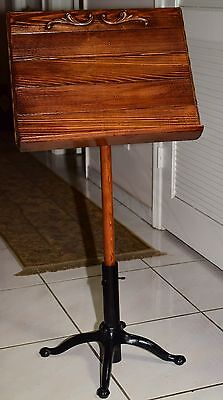 Custom Antique Music Stand Classical Style Circa 1980