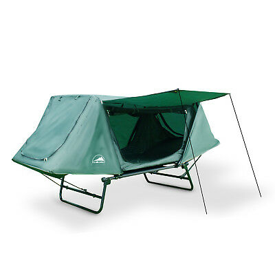 1 Person Single Tent Cot Off Ground Double Layer Swag Bed Tent Camping Outdoor