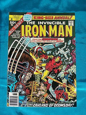 IRON MAN ANNUAL # 4, 1977, CHAMPIONS Appearance, FINE - VERY FINE Condition