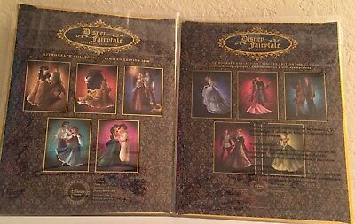 Disney Designer Fairytale Collection Limited Edition Lithographs Set of 10