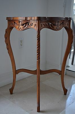 Vintage French Style Hand Carved Side Table