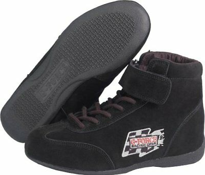 G-Force 0235115Bk Racegrip Black Size-115 Mid-Top Racing Shoes