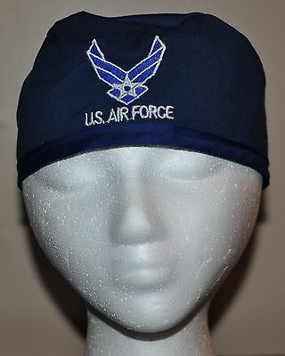 Men's USAF/ US Air Force Embroidered Scrub Cap/Hat version 2- One Size Fits Most