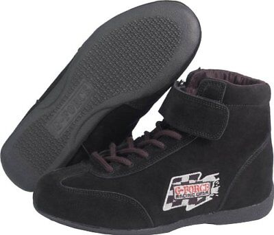 G-Force 0235100Bk Racegrip Black Size-100 Mid-Top Racing Shoes