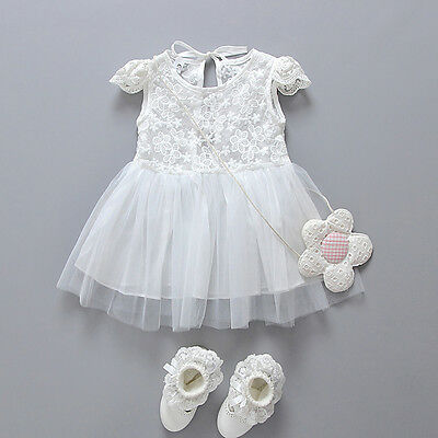 US Infant Toddler Baby Girls Princess Lace Pageant Wedding Birthday Party Dress