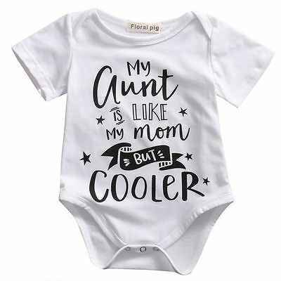 US Newborn Baby Bodysuit Toddler Romper Infant Boy Girl Jumpsuit Clothes Outfits