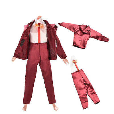 2 Pcs/Set Coat Pants Doll Clothes for Barbie Ken Casual Dress Girls Gifts BDAU