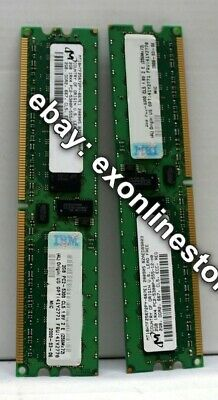 41Y2771 - 4GB Kit (2x2GB DIMM) PC2-5300 CL5 ECC DDR2 RDIMM FRU 41Y2770 x 2 Used