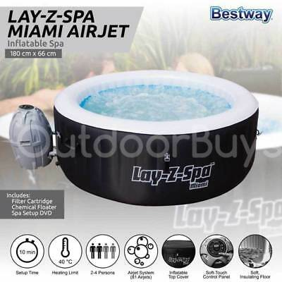 Bestway Inflatable Spa Hot Tub | Lay-Z-Spa Miami Indoor Outdoor Portable