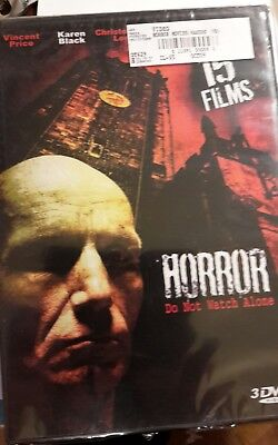 Horror 15 Film Collection (DVD, 2009, 3-Disc Set) Brand New shrink wrap worn