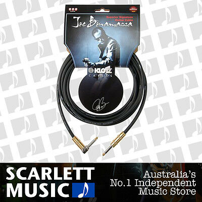 Klotz Joe Bonamassa 6 Metre Right Angled Cable w/3 Years Warranty - 40% off.