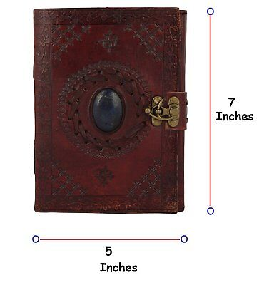 Leather Journal with Semi-precious Stone & Buckle Closure Leather Diary Gift for