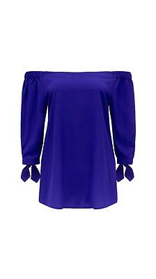 Forever New Blue Off The Shoulder Top Size 6