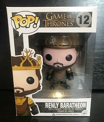Funko Game of Thrones; Renly Baratheon Pop Vinyl Figure + Protector Case RARE