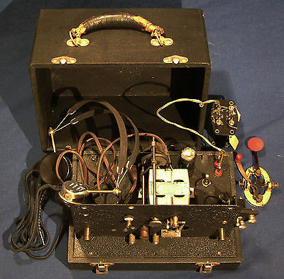 Teleplex --- Telegraph Machine; Case, Key, & Headset --- Free Shipping