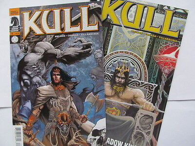 KULL #1 & 2 (2008, Dark Horse) Lovely Will Conrad art, RE Howard; VF/NM to NM-