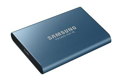 Samsung Portable SSD T5 250GB Mobile External Solid State Drive in Blue - USB3.1