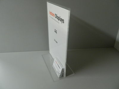 A4 Vertical Poster Holder with Business Card Pocket ( Packs 1, 5 or 10 )