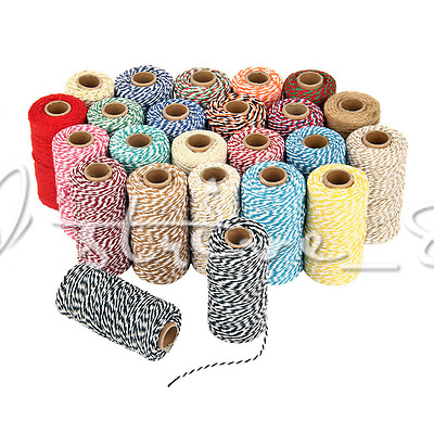 1Roll-100M Cotton Bakers Twine String Cord Glass Bottle Gift Box Decor Craft 2mm