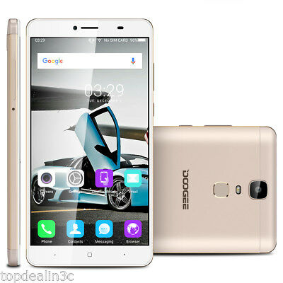 6.5 Pouces DOOGEE Y6 Max 4G Téléphone 3GB+32GB 2x SIM/Cam Octa-Cores Touch ID Or