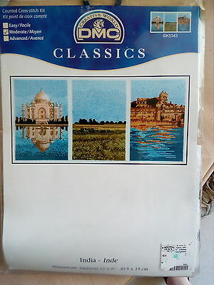 India Counted Cross Stitch Kit by DMC Classics Design
