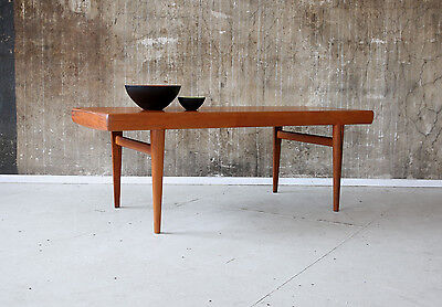 60er JOHANNES ANDERSEN TEAK COUCHTISCH SILKEBORG 60s COFFEE TABLE DANISH DESIGN