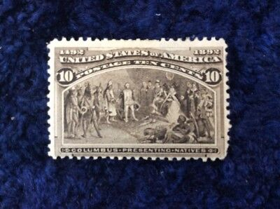 United States of America 1893 Columbian Exposition 10c Sepia SG 242 Mounted Mint